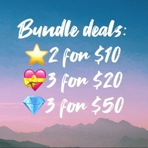 BUNDLE & SAVE ON MARKED ITEMS!😁🦋💕